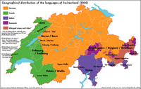 Map of Swiss Languages