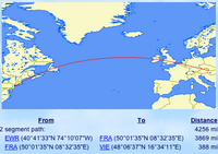 Map of Flight Route