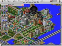 Sim City 2000 Monster - This is a screenshot of a copyrighted computer game or video game. It is believed that screenshots may be exhibited on newkai.com under the fair use provision of United States copyright law.