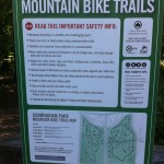 Cunningham Park Mountain Bike Trails Sign